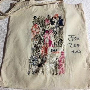 Old Navy tote signed by Joe Zee